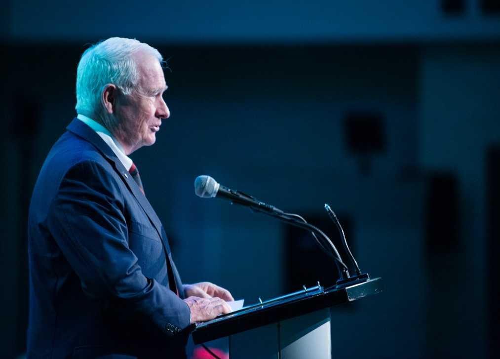 Governor General David Johnston at the Families in Canada Conference 2015 / Le gouverneur général David Johnston lors de la Conférence sur les familles au Canada 2015